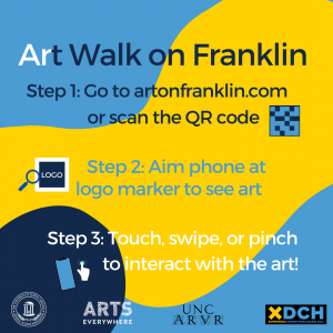Infographic with steps to participate in the ARt Walk